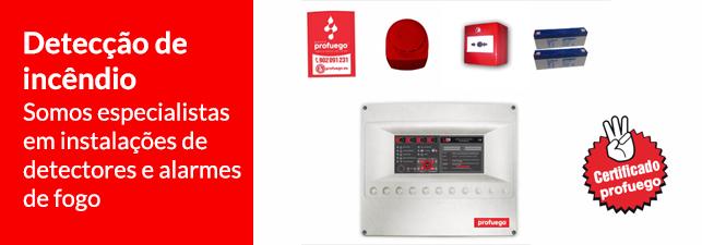 Detecção de incêndio e instalação de alarme