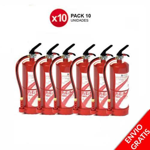 Pacote 10 Extintores de Incêndio 6kg POUPE10% EXTRA 1