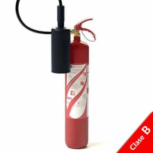 Extintor de CO2 5kg 89B FOGO ELÉCTRICO 1