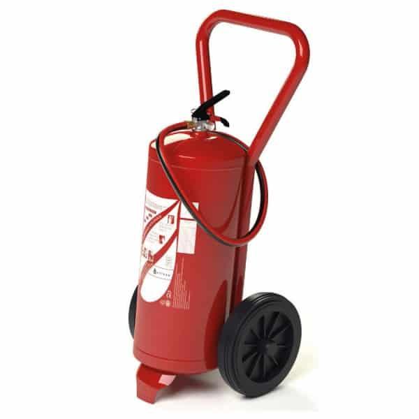 Extintor de incêndio de Pó 25kg com carrinho 1